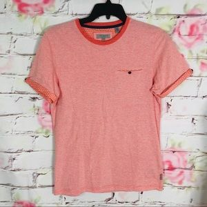Ted baker cuff sleeve front pocket cotton t shirt